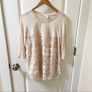 Anthropologie Ivory Lace Tunic